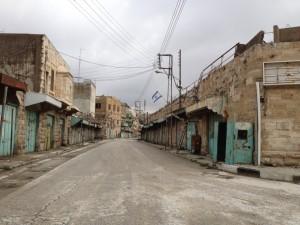 Hebron-Israel-Calle-desierta